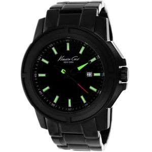 KENNETH COLE NEW YORK DATE/LUMINOUS BLK MENS WATCH